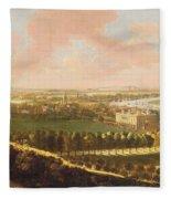 London From Greenwich Hill Fleece Blanket
