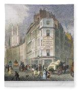 London: Street Scene, 1830 Fleece Blanket