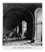 London: Thames Tunnel Fleece Blanket