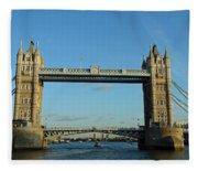 London Tower Bridge Looking Magnificent In The Setting Sun Fleece Blanket