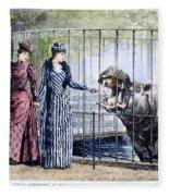 London Zoo, 1891 Fleece Blanket