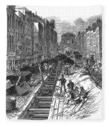 London:fleet Street Sewer Fleece Blanket