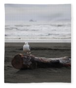 Lone Gull Fleece Blanket