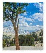 Lone Pine At Half Dome Fleece Blanket