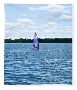 Lone Wind Surfer Fleece Blanket