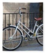 Lonely Bike Fleece Blanket