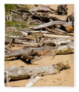 Lonely Driftwood Fleece Blanket