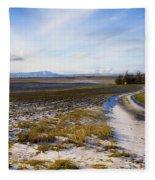 Lonely House On The Prairie Fleece Blanket