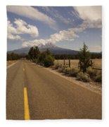 Lonesome Hiway To Shasta Fleece Blanket