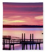 Long After Sunset Fleece Blanket