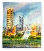 Long Beach Oil Islands Fleece Blanket