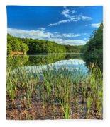 Long Branch Lake Marsh Fleece Blanket