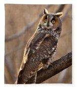 Long-eared Owl Fleece Blanket