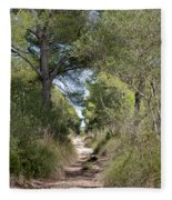 Long Forest Road Fleece Blanket