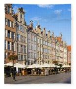 Long Market In Gdansk Fleece Blanket