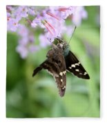 Long Tailed Skipper - Urbanus Proteus Fleece Blanket