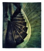 Looking Down An Old Staircase Fleece Blanket