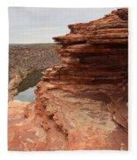 Looking Past Natures Window Fleece Blanket