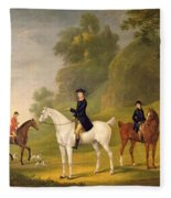 Lord Bulkeley And His Harriers Fleece Blanket