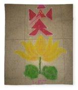 Lord Ganesh Rangoli Fleece Blanket