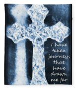 Lord Have Mercy With Lyrics Fleece Blanket