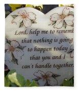 Lord Help Me To Remember Fleece Blanket