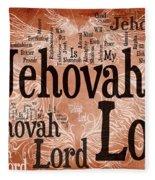 Lord Jehovah Fleece Blanket