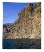 Los Gigantes Cliffs Fleece Blanket