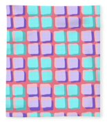 Lots Of Squares Fleece Blanket