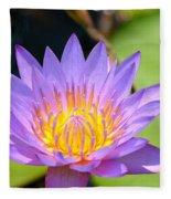 Lotus Aglow Fleece Blanket