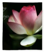 Lotus Flower Holiday Card Fleece Blanket