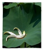 Lotus Leaf--castoff IIi Dl060 Fleece Blanket