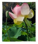 Lotus Lily Standing Tall Fleece Blanket