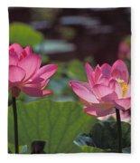 Lotus Pair 24m Fleece Blanket