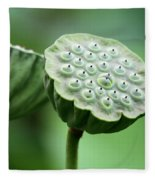 Lotus Seed Pods Fleece Blanket