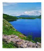 Lough Caragh, Co Kerry, Ireland Fleece Blanket