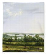 Lough Erne From Knock Ninney - With Bellisle In The Distance Fleece Blanket