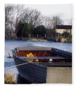 Lough Neagh, Co Antrim, Ireland Boat In Fleece Blanket