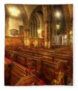 Loughborough Church Pews Fleece Blanket