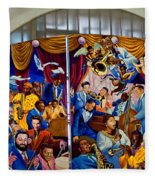 Louis Armstrong Airport Fleece Blanket