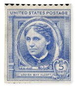 Louisa May Alcott (1832-1888) Fleece Blanket