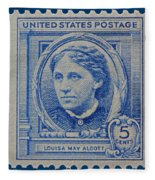 Louisa May Alcott Postage Stamp  Fleece Blanket