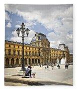 Louvre Museum Fleece Blanket