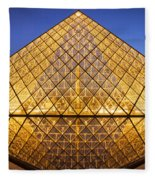 Louvre Pyramid Fleece Blanket