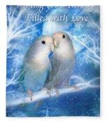 Love At Christmas Card Fleece Blanket