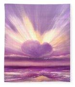 Love At Sunset Fleece Blanket