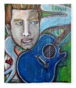Love For Blue Guitar Fleece Blanket