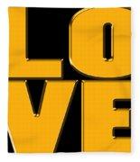 Love In Gold Fleece Blanket