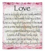 Love Poem In Pink Fleece Blanket