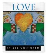 Love Is All You Need Poster Fleece Blanket